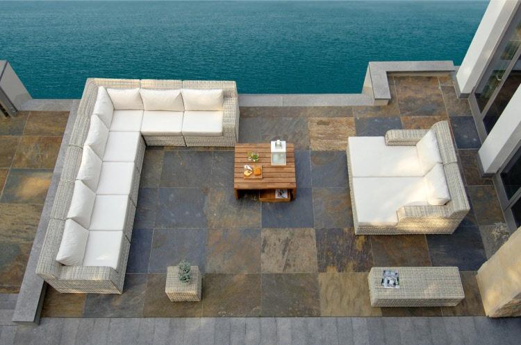 luxe loungeset buiten