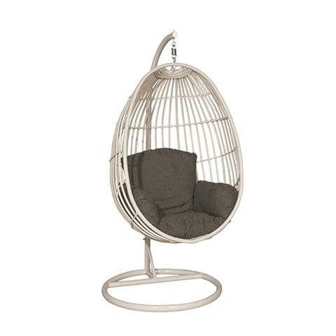 Swing Egg Stoel.Hangstoel Panama Swing Chair Egg Wit Antraciet