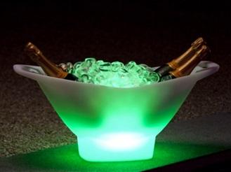 Wijnkoeler Met Licht : Wijnkoeler led draadloos champagne imagilights