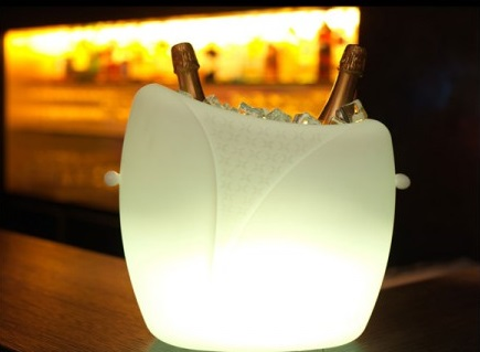 Wijnkoeler Met Licht : Marylin champagne wijnkoeler met verlichting shopndrop