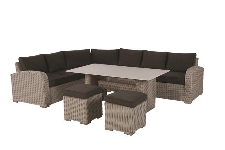 Lounge Set Gartenmoebel Set Lova Aus Polyrattan Wetterfest Und Uv