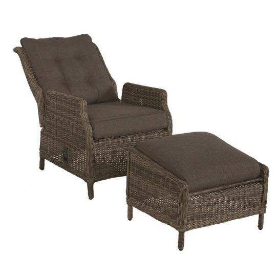 Loungechair Vitoria vlechtwerk loungestoel verstelbare tuinstoel