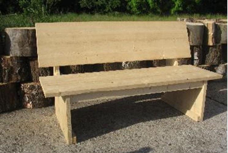 Bank met opbergruimte steigerhout bouwpakket