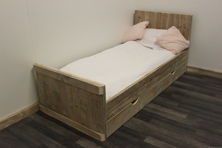 Super Steigerhouten bed Leerdam &PD33