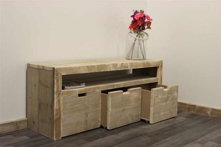 Steiger Houten Side Table.Steigerhouten Sidetable Lelystad