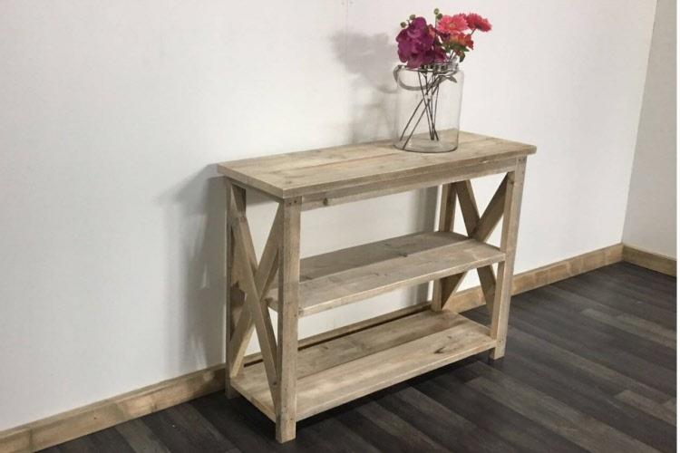 Steiger Houten Side Table.Steigerhouten Sidetable Wolvega