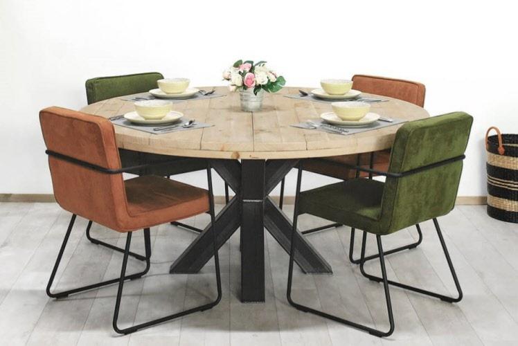 Ronde Tafel Steigerhout : Steigerhouten tafel oosterwolde