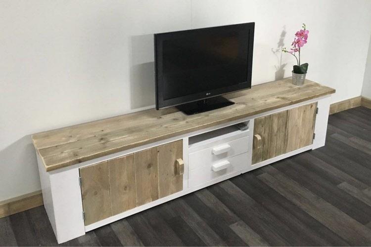 Tv Kast Steigerhout : Steigerhouten tv meubel voorst