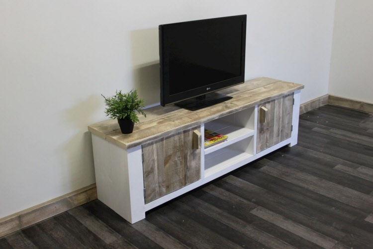 Tv Kast Steigerhout : Steigerhouten tv meubel vriezenveen