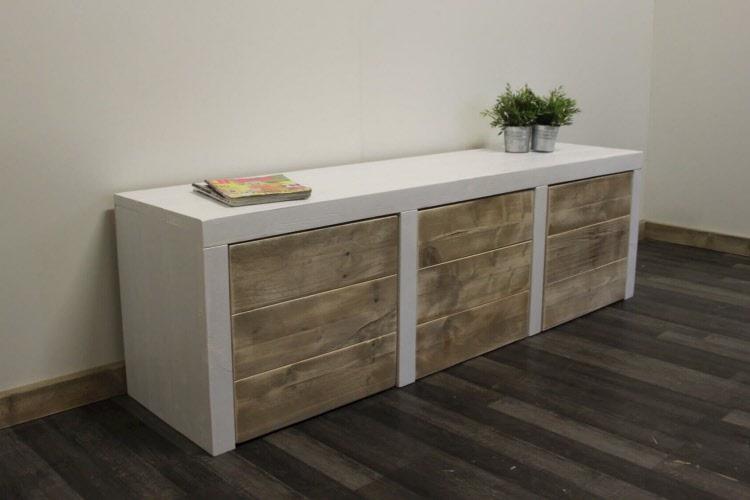Sfeerhaard Tv Meubel : Steigerhouten tv meubel