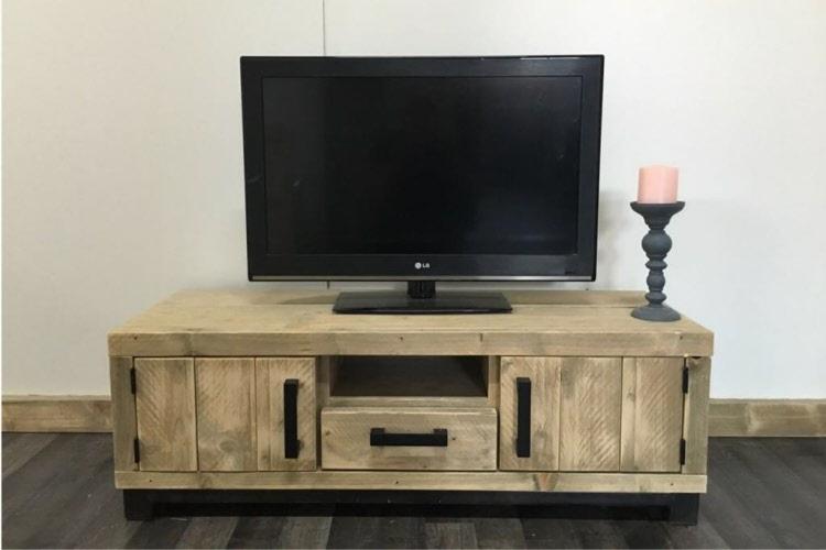 Steigerhout Tv Kast : Steigerhouten tv meubel