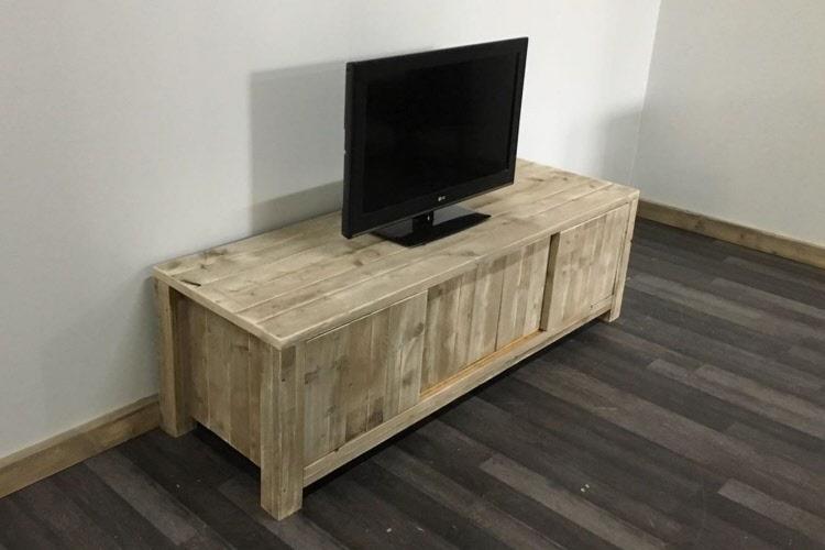 Tv Meubel Afbeeldingen : Steigerhouten tv meubel