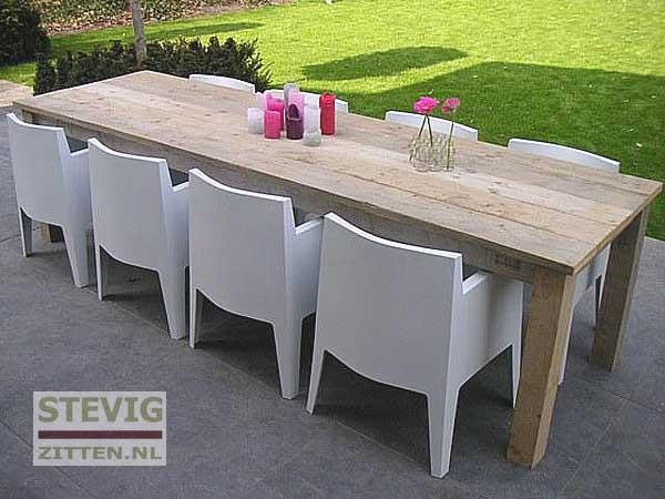 Oude houten tafel maken samosa ontwerp op maat oud eiken - Tafel een italien kribbe ontwerp ...