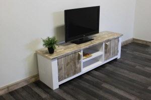 Tv Kast Steigerhout : Steigerhouten tv meubel