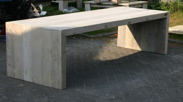 Eettafel van steigerhout maatwerk steigerhout